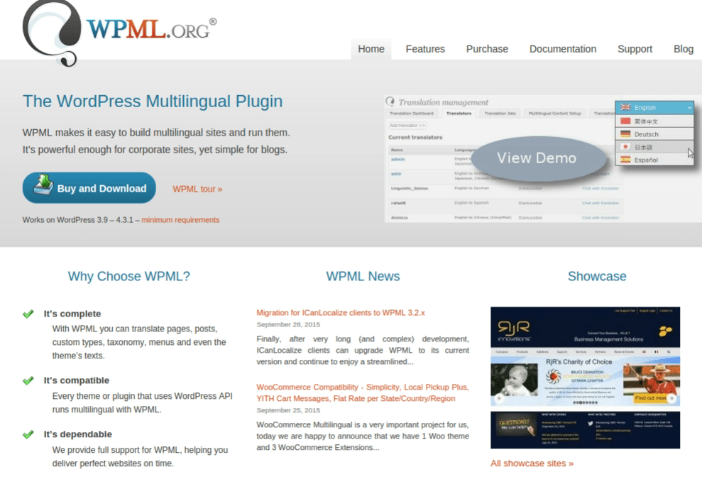 WPML (WordPress Multilingual Plugin)