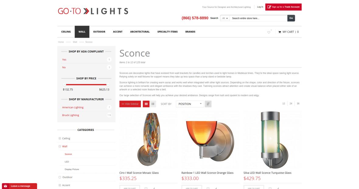 GoToLights_Product Catalog