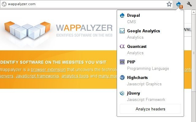 wappalyzer _Useful Chrome Extensions for Web Developers